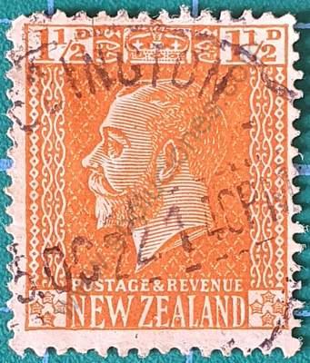 Rey George V 1929 - Sello Nueva Zelanda 1½d