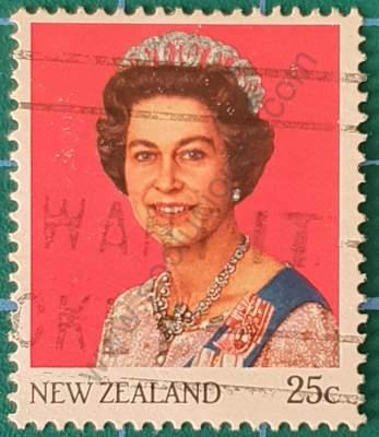 Elizabeth II 25c Nueva Zelanda - Sello de 1985