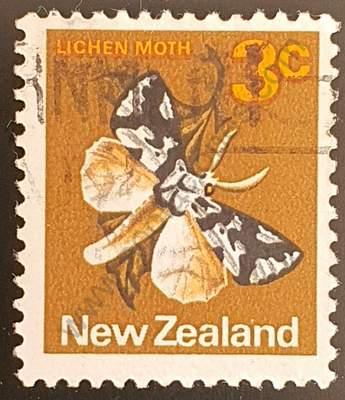 Polilla de liquen de la Isla Sur - Sello Nueva Zelanda 1970