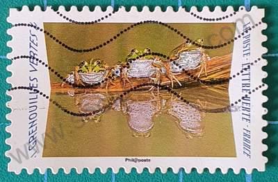 Rana verde - Sello de Francia 2020