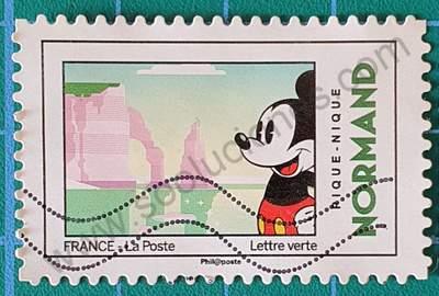Mickey Mouse en Normandía - Sello Francia 2018