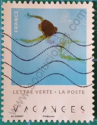 Mujer nadando - Sello Francia 2019