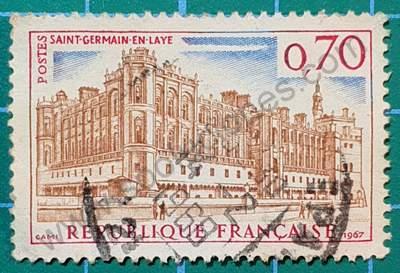 Castillo Saint Germain en Laye - Sello Francia 1967