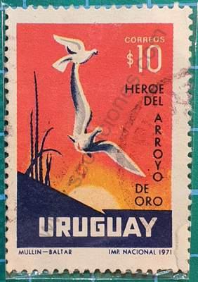 Dionisio Díaz niño Héroe - Sello Uruguay 1972