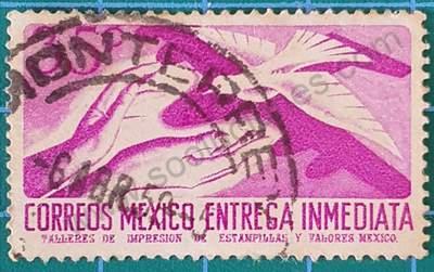Manos y Paloma sello de México 35c - 1956