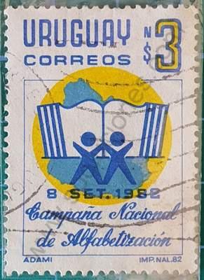 Campaña de alfabetización - Sello Uruguay 1982