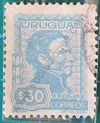 General Artigas $30 - Sello Uruguay 1974