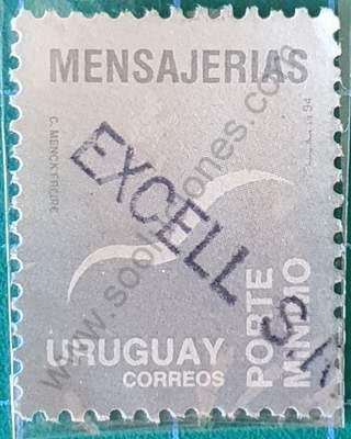Gaviota estilizada fondo gris - Sello Uruguay 1994