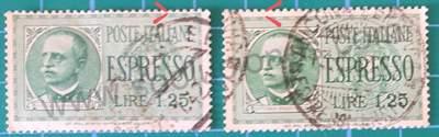 Victor Emmanuel III - Sello Italia 1932 1,25 Liras