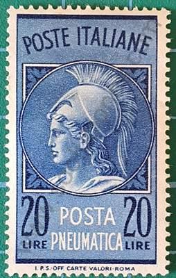 Cabeza de Minerva - Sello de Italia 1966