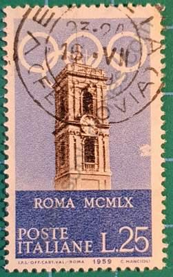 Torre del Campidoglio - Sello Italia 1959
