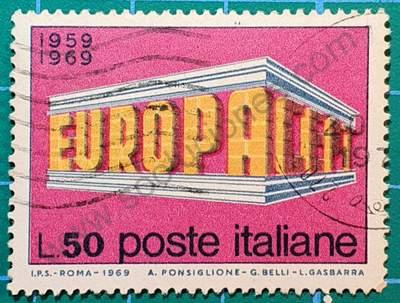 10º aniversario CEPT - sello Italia 1969