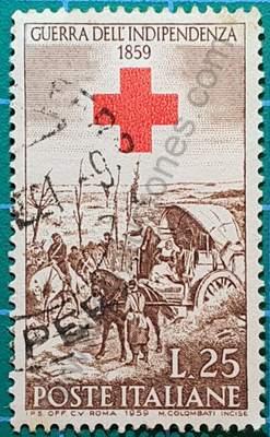 Campamento después de la batalla - Sello Italia 1959