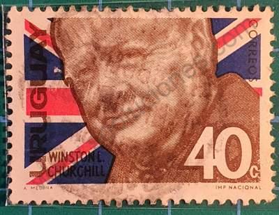 Winston Churchill 40c - Sello Uruguay 1966
