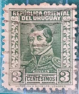 General Rivera 3c - Sello Uruguay 1934