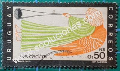 Navidad 1978 sello Uruguay 1978 N$ 0,50
