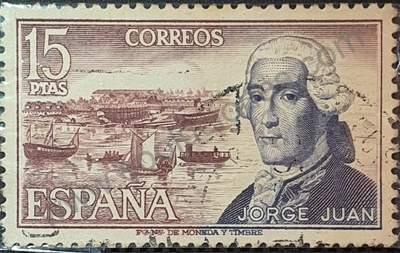 Jorge Juan 15Ptas - Sello España 1974