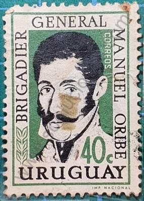 Manuel Oribe 40c - Sello Uruguay 1961