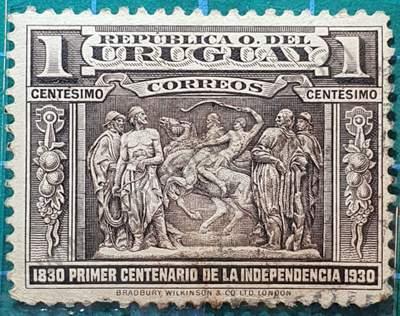 Monumento al Gaucho - Uruguay sello de 1930