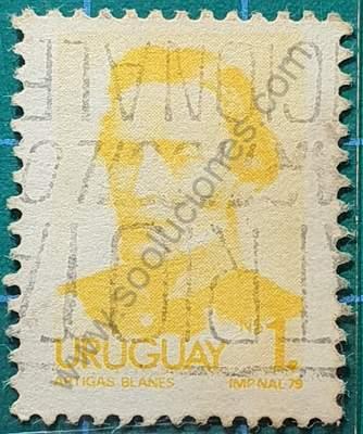 Artigas N$1 1979 - Sello de Uruguay