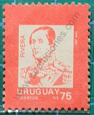 General Fructuoso Rivera - Sello Uruguay 1989