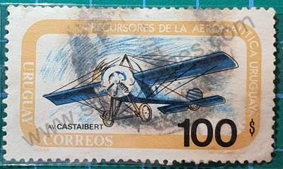 Avión Castaibert - Sello Uruguay 1974