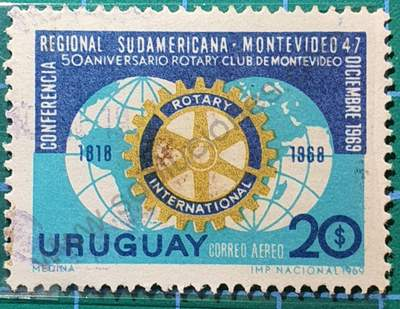 Rotary Club 20$ - Sello Uruguay 1969