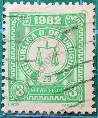 Día del sello 1982 - Uruguay N$3
