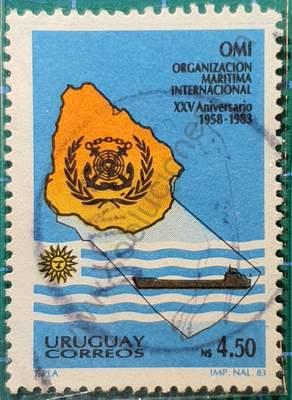 25 Aniversario O.M.I. - sello Uruguay 1984