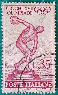 Lanzador de disco - Sello Italia 1960