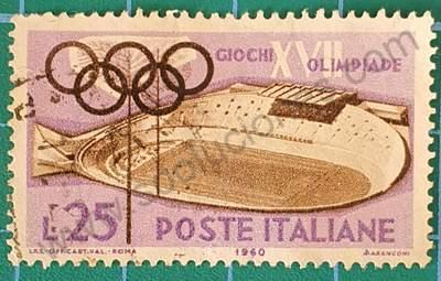 Pista de bicicletas - Estampilla Italia 1960