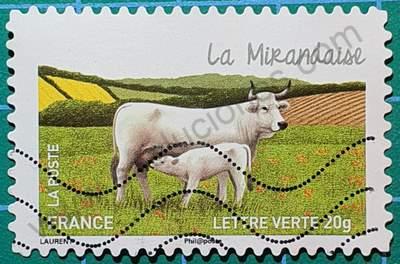 Vaca Mirandaise - Sello Francia 2014