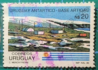 Base Antártica Uruguaya - Sello 1987