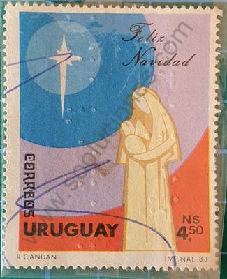 Navidad 1983 - Sello Uruguay