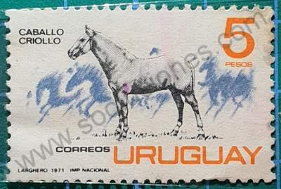 Caballo criollo - Sello Uruguay 1971
