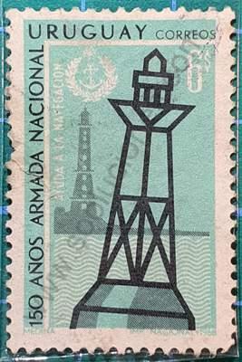 Faro y boya - Sello Uruguay 1968