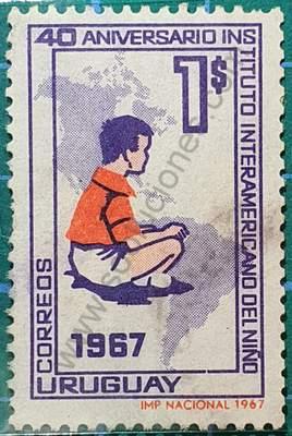 Instituto Interamericano del Niño - Sello Uruguay 1967