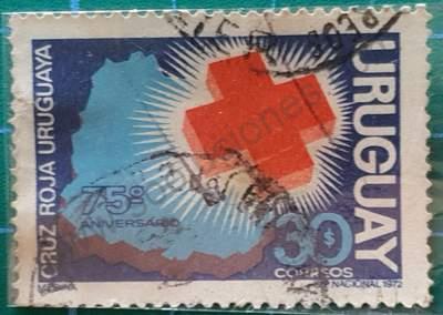 Cruz Roja Uruguaya - Sello de 1972