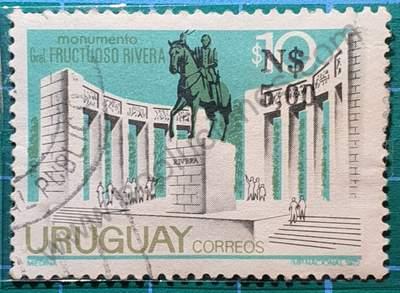 Monumento al Gral Rivera - Sello Uruguay 1961