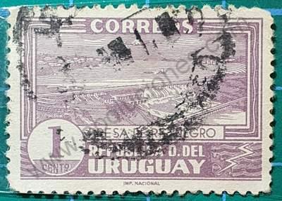 Represa Río Negro 1 cent. - Sello Uruguay 1937