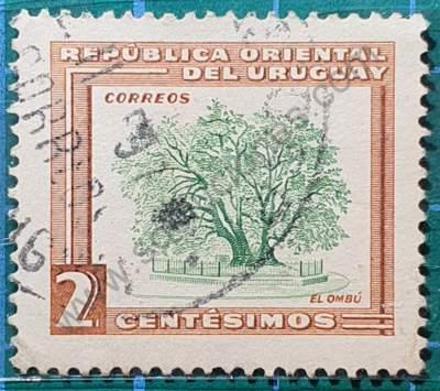 Ombú 2c - Sello Uruguay 1954