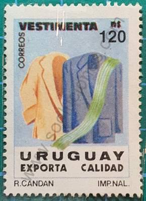 Ropa - Sello de Uruguay año 1991