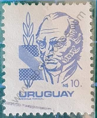 Busto Artigas N$10 - Sello Uruguay 1982