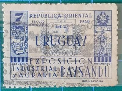 Escudo de Paysandú - Sello Uruguay 1948
