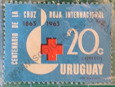 Cruz Roja Internacional 20c - Sello Uruguay 1964