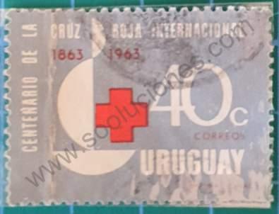 Cruz Roja 40c - Sello Uruguay 1964