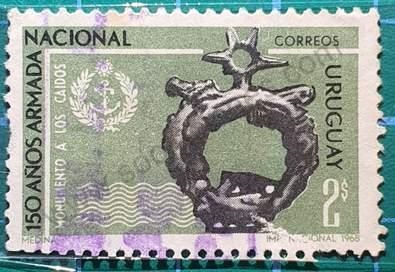 Monumento a los caídos - Sello Uruguay 1968