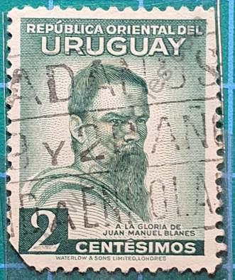 Juan M. Blanes 2c - Sello Uruguay 1941