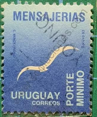 Sello Gaviota estilizada - Uruguay 1993