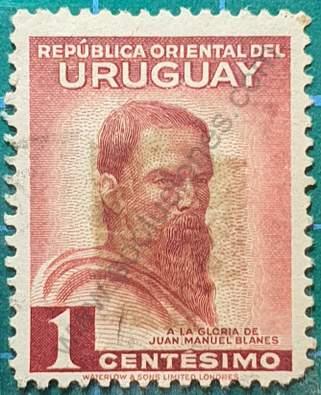 Sello Juan M Blanes - Uruguay año 1941 1c